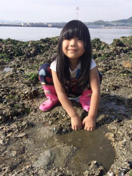 子供でも釣れるファミリーフィッシングと釣果-広島で潮干狩り9