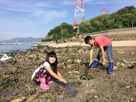 子供でも釣れるファミリーフィッシングと釣果-広島で潮干狩り8