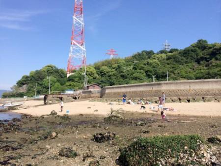 子供でも釣れるファミリーフィッシングと釣果-広島で潮干狩り5
