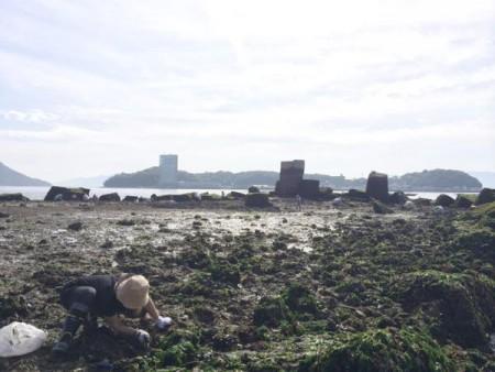 子供でも釣れるファミリーフィッシングと釣果-広島で潮干狩り7