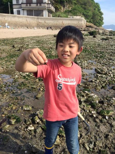 子供でも釣れるファミリーフィッシングと釣果-広島で潮干狩り10