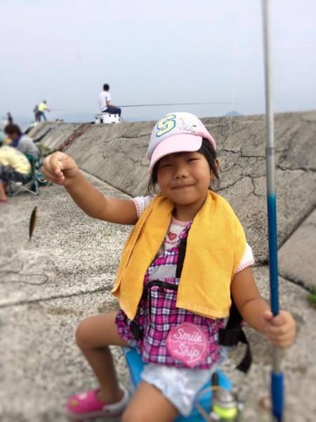 子供でも釣れるファミリーフィッシングと釣果-簡単なアジ釣り1